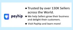 Payhip platform for selling digital products